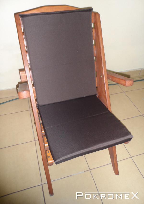 Poduszka na krzesło  kolor ciemnobrązowy
